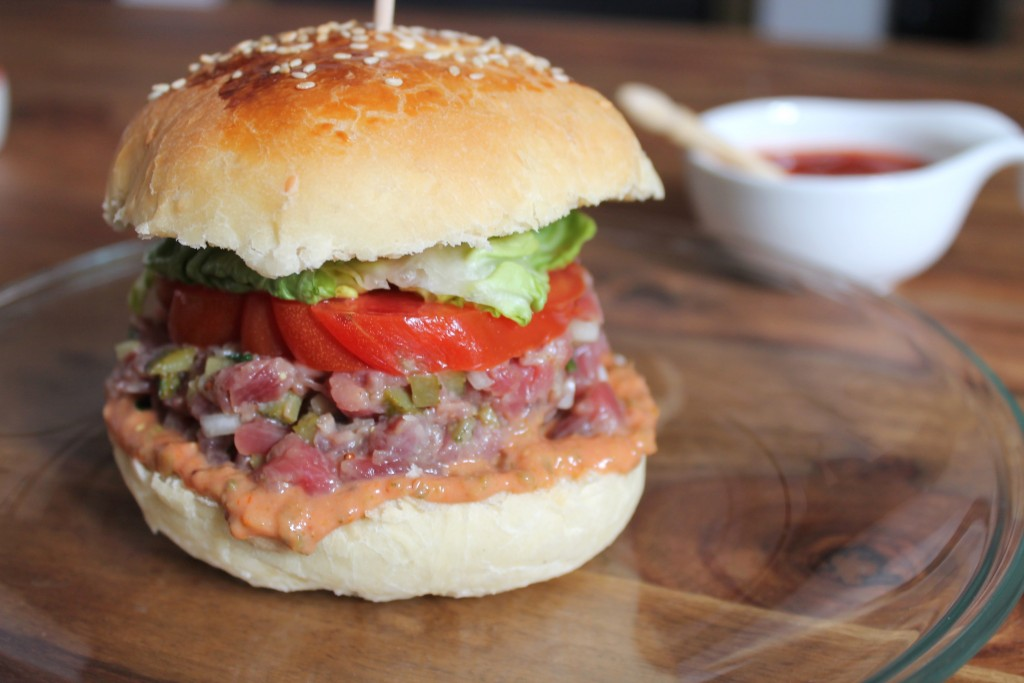 recette du french tartare burger